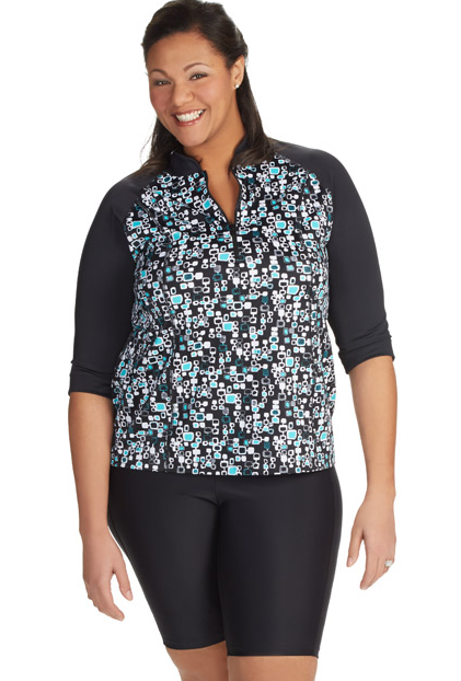a34b51f08948e How to find Plus Size Swim Shirts that Fit - BigGirlsGuide