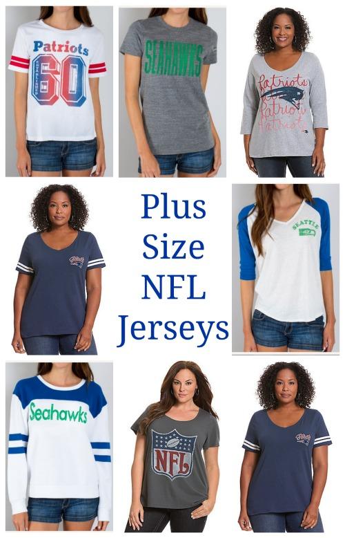 womens plus size football jerseys